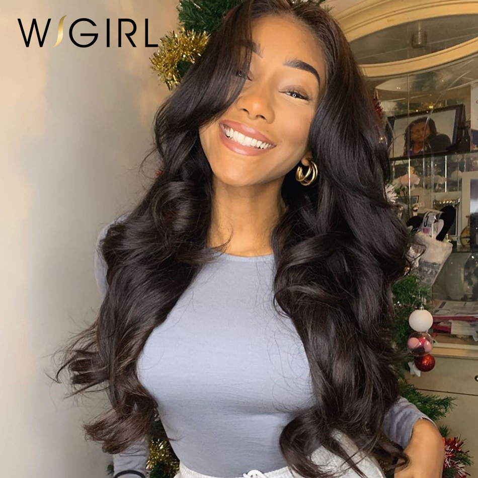 Wigirl Body Wave 13x6 Front Wigs 26 28 30 Inch Pre Plucked With Baby Hair Brazilian Human Hair 360 Frontal Wigs For Black Women