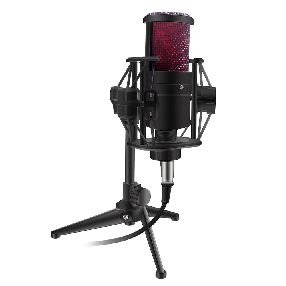 New V500 Condenser Microphone For Mobile Phone Laptop 3.5MM Directly Used Tripod For Broadcasting Recording Karaoke