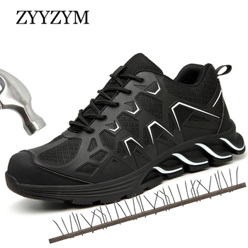 ZYYZYM Steel Toe Work Casual Shoes Men Safety Boots Industrial & Construction Man Work Safety Boot Protection Outdoors Boots