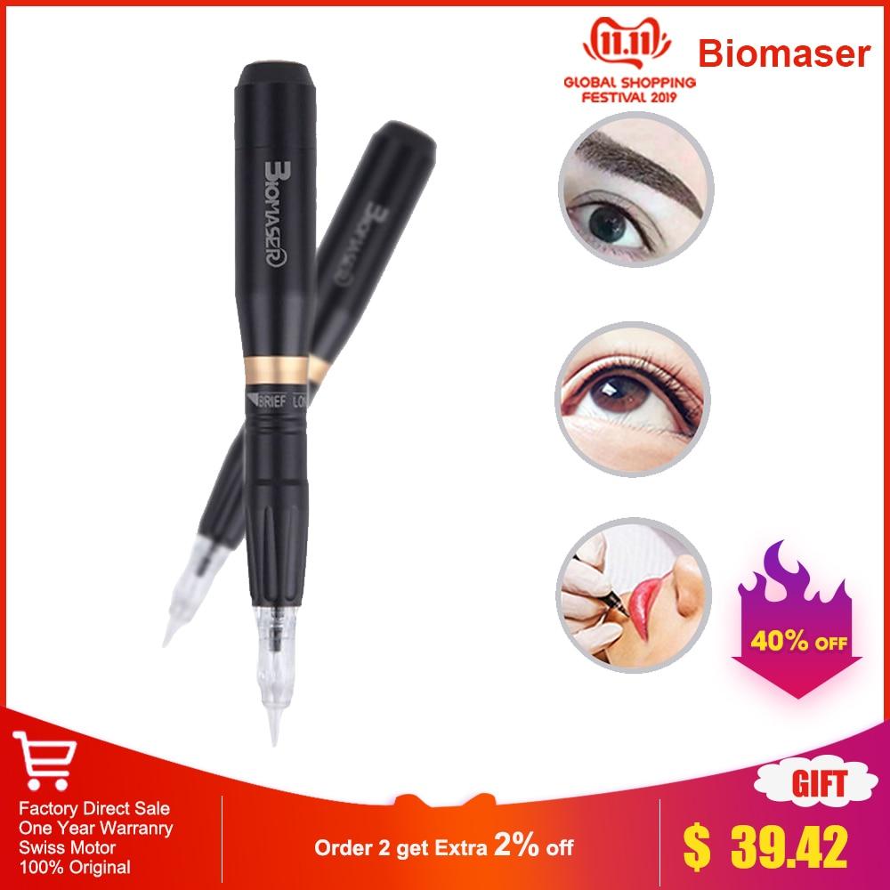 Permanent Full Professional Makeup Tattoo Machine Gun Powerful 35000 RPM Rotary Pen Blaack For Eyebrow Lip Tattoo Supplies