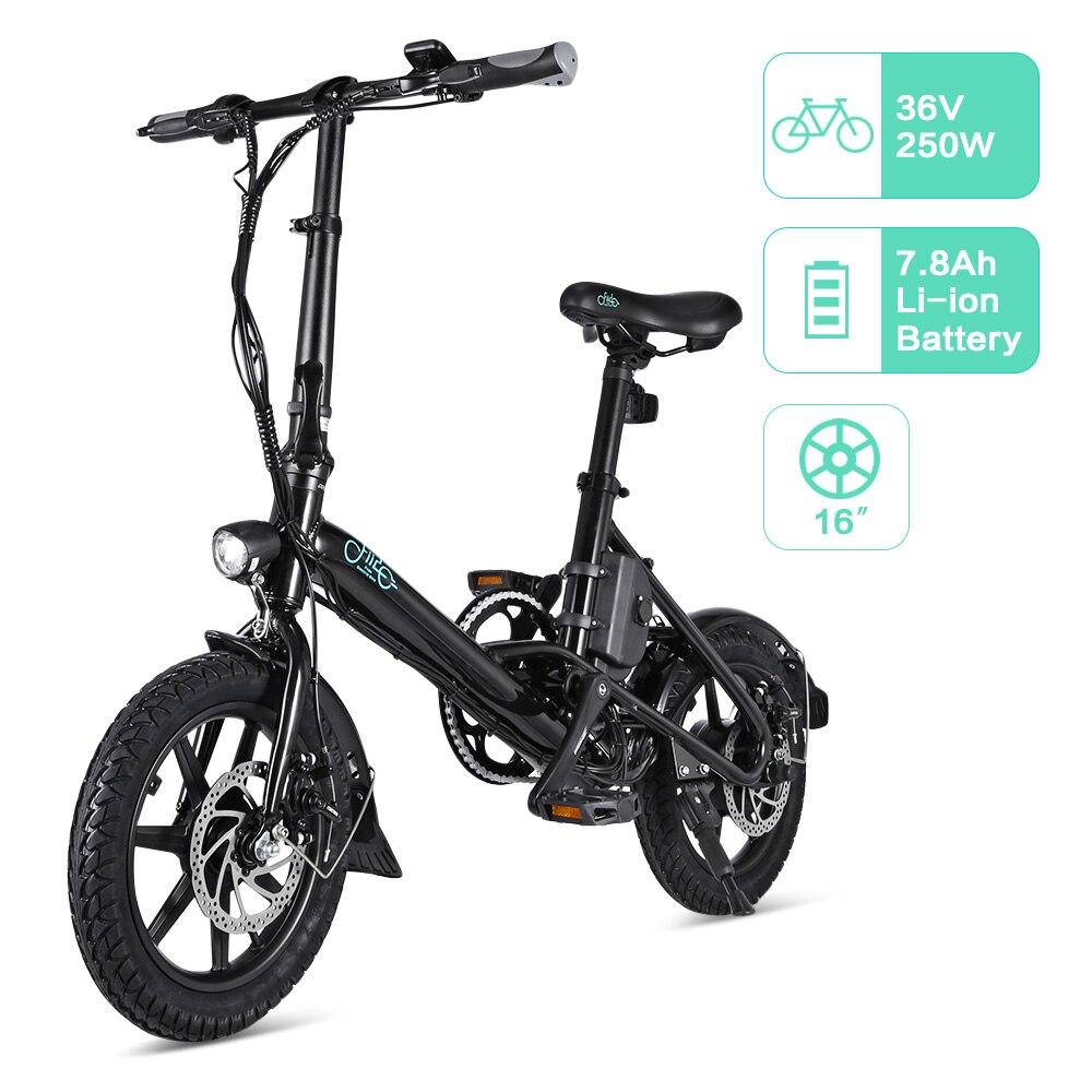Европейский склад FIIDO D1 D2 D2s D3 D3s 16 дюймов складной электрический велосипед Алюминиевый сплав двойной дисковый тормоз Электрический велосип... - 4
