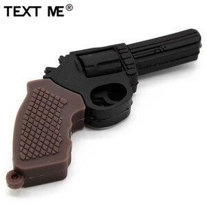 Image 3 - TEXT ME cartoon 100% prawdziwa pojemność 5 model pistolet pamięć usb 2.0 4GB 8GB 16GB 32GB pendrive 64GB usb2.0