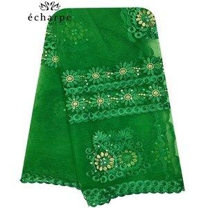 Image 4 - 2020 Новая африканская Женская шаль мусульманская вышивка шарф из тюли хиджаб шарф мусульманский шарф больших размеров для шали BM956