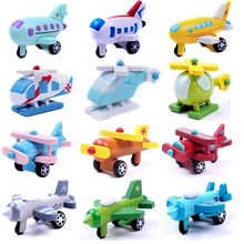 12Pcs/set Wooden mini plane series aircraft airplane wooden toys Children Birthday Festival Gifts ed 198 кашпо уютный дом