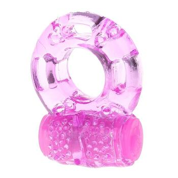 Silicone Vibrating Ring Elastic Cock Delay Ring Vibrator Penis Cock Ring Vagina Vibrator Sex Shop Adult Toys image
