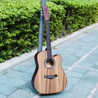 Diduo 41 inch for Beginner Zebra Deep Wood Practice Guitar Novice ballad Missing angle Guitarra with Guitar Accessories AGT66
