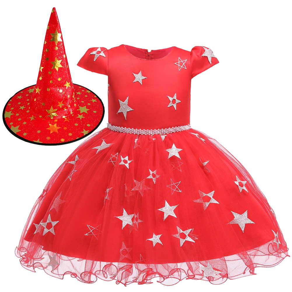Girls Witch Halloween Christmas Toddler Kids Tutu Dresses Baby Children Clothing Princess Dress Party Costume Clothes 1 2 4 6 8Y 3