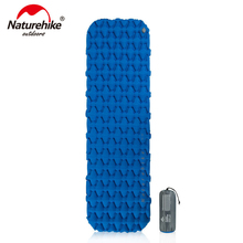 Naturehike Nylon TPU karimata lekki odporny na wilgoć materac dmuchany przenośny nadmuchiwany materac Camping Mat NH19Z032-P tanie tanio Mattress Obóz External Inflator Pump Blue Orange Navy blue Gray Army green 3 6cm Air mattress sleeping pad Naturehike sleeping pad