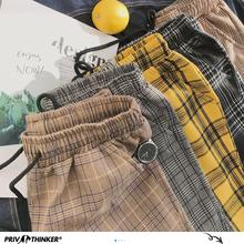 Privathinker Harajuku spodnie w kratę dla kobiet spodnie 2021 Streetwear kobieta Harem spodnie jesienne damskie spodnie na codzień Plus rozmiar tanie tanio POLIESTER Pełna długość Z KIESZENIAMI CN (pochodzenie) Na wiosnę jesień womenpants Plaid Na co dzień Spodnie typu Harem