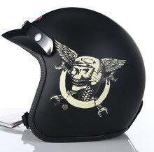Dot aprovado capacete da motocicleta do vintage retro scooter jet rosto aberto quatro temporada capacete moto bicicleta equitação