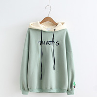 17 Years Autumn & Winter New Style Versatile Warm Long Sleeve Mixed Colors Cap Sleeves Cactus Fleece Hoodie
