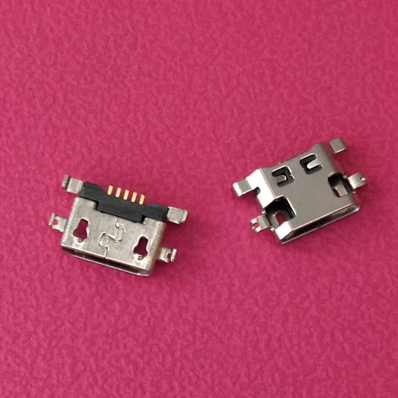 1000PCS Micro Usb For Alcatel 7040N Charge Port Dock Socket For Lenovo A708t S890 For Huawei G7 G7-TL00 Charging Connector