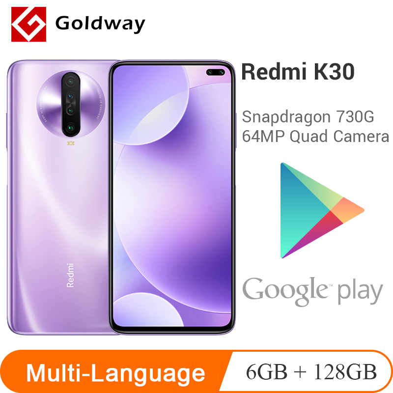 "Multi Language Xiaomi Redmi K30 4G 6GB 128GB Smartphone 120HZ Fluid Display Snapdragon 730G 64MP Quad Camera 6.67"" 4500mA(Hong Kong,China)"