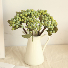 Fake Fruit Glass Berries Artificial Berry Green Bean Foam Flowers Home Decor Small Bacca Branch Plant