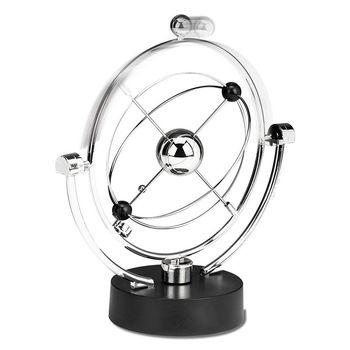 ¡Superventas! Escultura de escritorio de movimiento perpetuo, arte cinético, equilibrio de planetas galácticos móvil, tableta magnética de decoración para el hogar para oficina ejecutiva