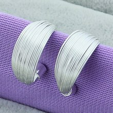 Vintage Hoop Earrings Fashion For Women 925 Silver Color Jewelry Boutique Multi-Line Hot Sale 3 Style
