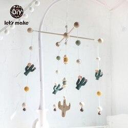 Let's Make детские игрушки, мобильные на кровати, развивающие игрушки, погремушки на кроватке, кактус, рождественские подарки, DIY набор, Погремуш...
