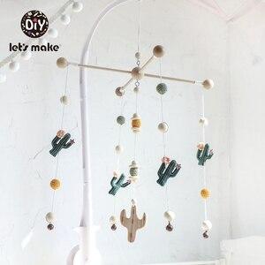 Image 1 - Yapalım bebek oyuncakları cep yatak eğitici oyuncaklar çıngıraklar üzerinde beşik kaktüs yılbaşı hediyeleri DIY seti çıngıraklar yenidoğan için