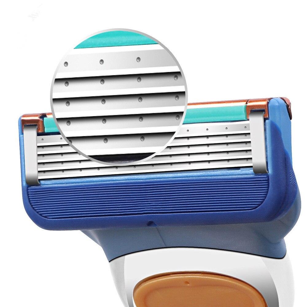 4 unids/lote de afeitado profesional de 5 capas de hojas de afeitar compatibles con gilletet fusone para el cuidado de la cara de los hombres o Mache 3 Nueva llegada espada pluma azul raqueta de tenis de mesa Súper Fibra Jlc pala de Ping Pong