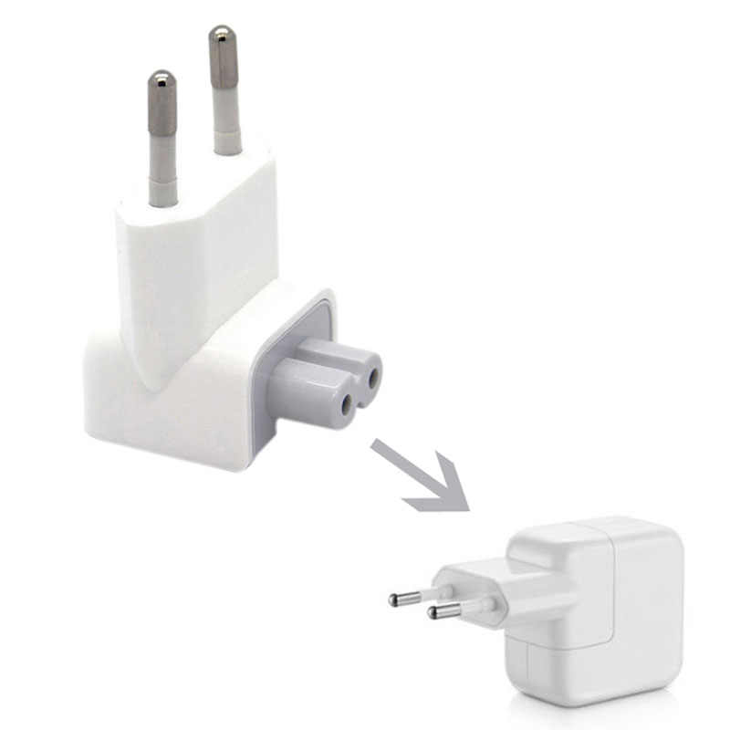 Buchse Zubehör US zu EU Stecker Travel Power Ladegerät Konverter Adapter für Apple Ladegerät MacBook Pro / Air / iPad/ iPhone BS