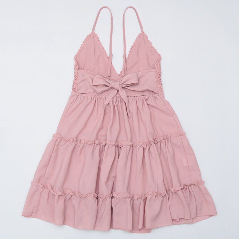 Image 4 - 2020 Sexy Lace Beach Dress Ladies Bikini Swimsuit Cover Up Tunics Beach Bathing Suits Swimwear Cover Up Beachwear Saida De PraiaCover-up   -