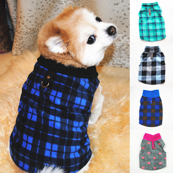 XS-3XL Warm Fleece Pet Dog Clothes Plaid Pet Coat Puppy Dogs Shirt Jacket French Bulldog Pullover Camouflage Dog Clothing image