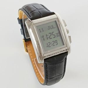 Image 5 - Adhan Watch for Muslim Prayer AL Harameen Fajr Time Wristwatch with Azan Time Qibla Compass Hijri Calendar