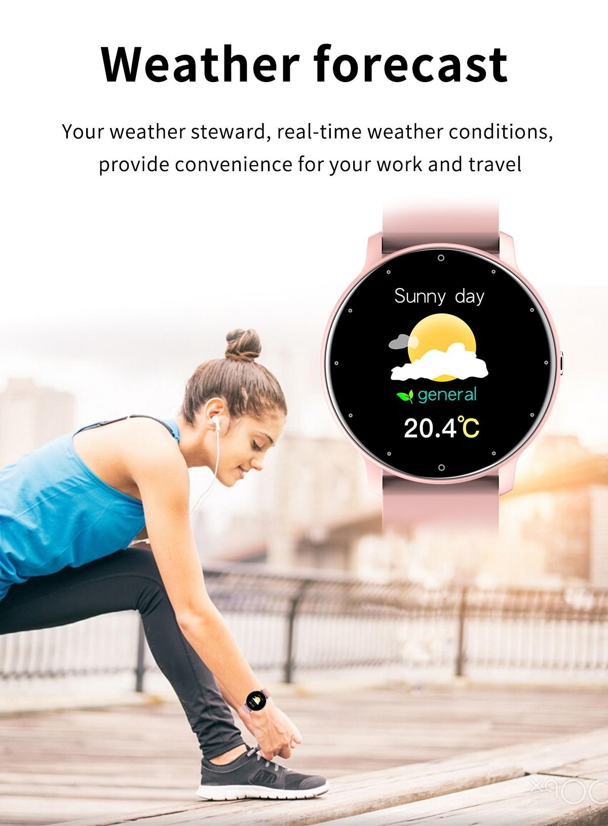He90ca65102254f18a1490fc0a238bcafY LIGE 2021 Fashion Smart Watch Men Fitness Bracelet Heart Rate Blood Pressure Monitoring Sports Tracker Smartwatch Gift for Women