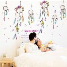 Ловец снов на стену Переводные картинки красочные 3d яркие перья