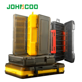 JOHN COO Double-Sided 14/12 Compartments Fishing Tackle Boxes