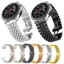 22Mm 20Mm Band Voor Samsung Galaxy Horloge 3 41 45Mm Gear S3 Roestvrij Stalen Band 46Mm 42Mm Voor Amazift Gts Metal Pols