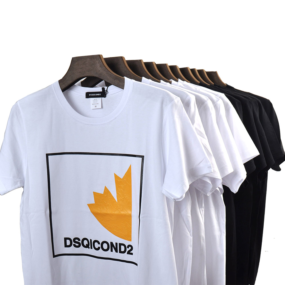 DSQICOND2 Cotton Men Tees Short Sleeves T-Shirts ICON Print T Shirt Women Casual Cool Summer T-shirt Women Short Sleeve Tshirt