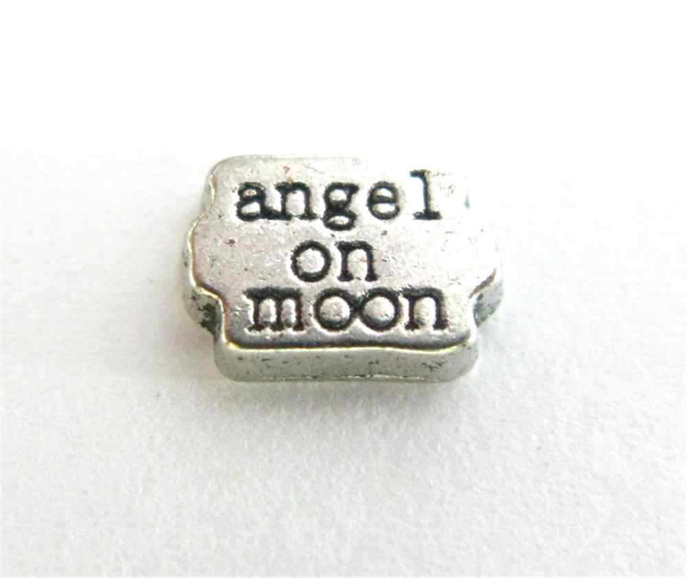 Happy Mother's Day Angel ดวงจันทร์ลอยตัว locket Charms 10pcs เช่นเพื่อนครอบครัวของขวัญสำหรับ Living locket
