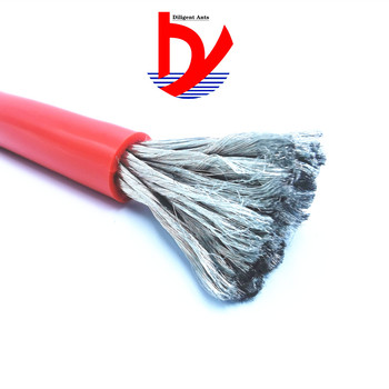 Heat-resistant 200° soft silicone cable 70 square 14000/0.08 tinned copper wire OD16.5mm for new energy
