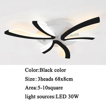 Led ceiling light for living room bedroom White/Black Simple Plafond led ceiling lamp home lighting fixtures AC90-260V 8