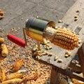 Kreative Hand Hobel Trockenen Mais Separator Einfach Einen Schritt Schnelle com Strippen Kerneler Cut Peel Drescher Gerät für Küche Gadgets