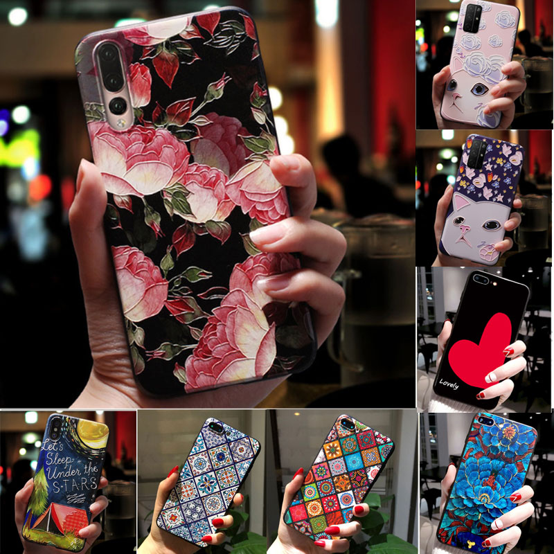 3D Emboss <font><b>Case</b></font> For <font><b>Doogee</b></font> N20 Y9 Plus <font><b>X70</b></font> <font><b>Case</b></font> <font><b>Silicone</b></font> Flower Soft TPU Cover For Coque <font><b>Doogee</b></font> N20 <font><b>Case</b></font> N 20 Phone <font><b>Cases</b></font> Bumper image