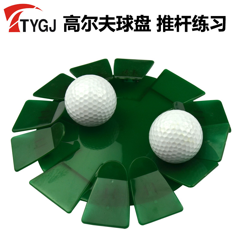 Ttygj Golf Disc Indoor Push Rod Practice Disc Convenient Practical Green Hole Saucers