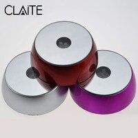 CLAITE Led クリスタルライトベースカラフル/ホワイト液晶ディスプレイ工芸品銀ラウンド LED ランプベース用スタンドガラス透明 objec -