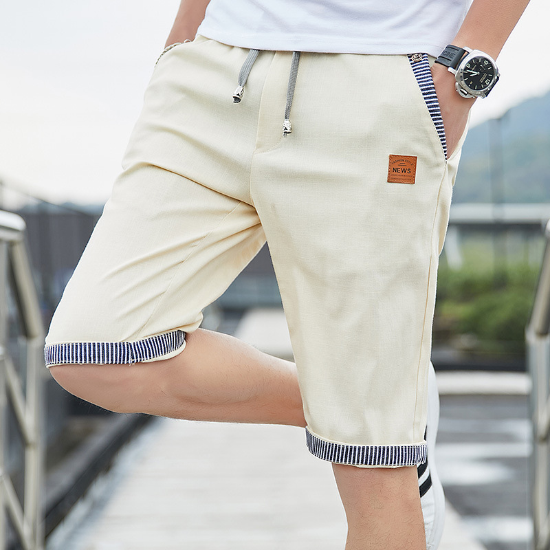 Men Casual Summer Plaid Patchwork Pockets Buttons Fifth Pants Loose Beach Shorts Male Summer Sports Workout Bottoms Clothing 1