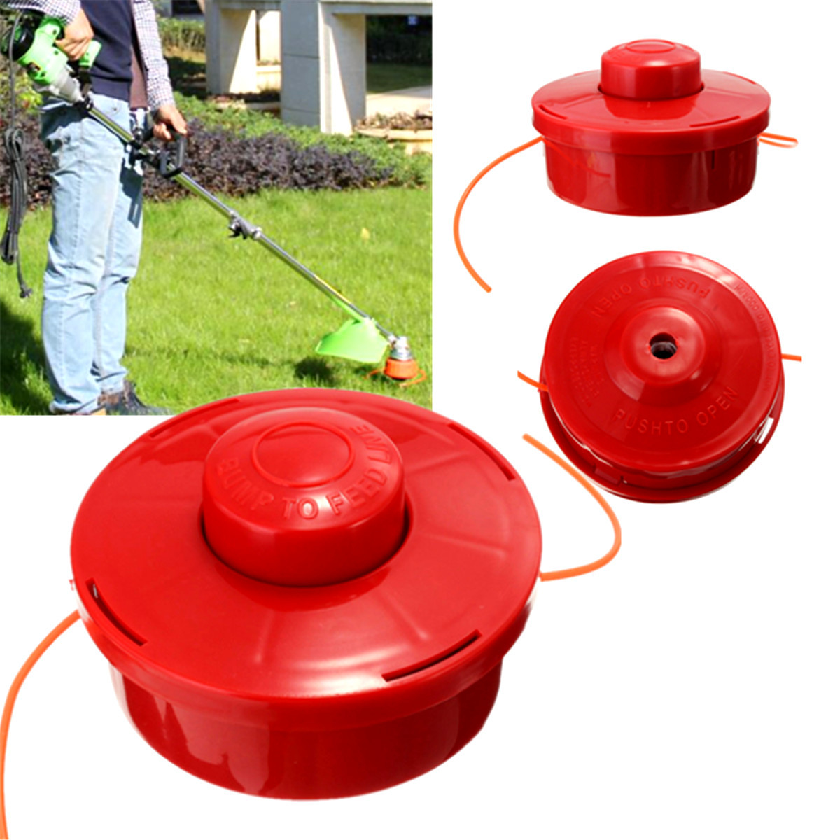Universals Nylone Line Bump Cutting Trimmer Head Grass Trimmer Head Garden Strimmer Lawn Mower Mounting Weeder Garden Accessory