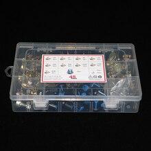 45 pçs/caixa wh148 único potenciômetro kit b1k/5k/10k/20k/50k/100k/500k/1m com botões único potenciômetro conjunto porcas do eixo