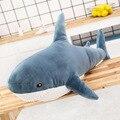 140cm Riesen Nette Shark Plüsch Spielzeug Weiche Angefüllte Speelgoed Tier Lesen Kissen für Geburtstag Geschenke Kissen Puppe Geschenk Für kinder