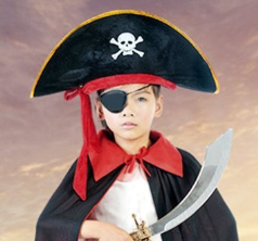 Cosplay Pirate Captain Hat Skull & Crossbone Design Cap Costume For Fancy Dress Party Polyester 2020 Hot Sales