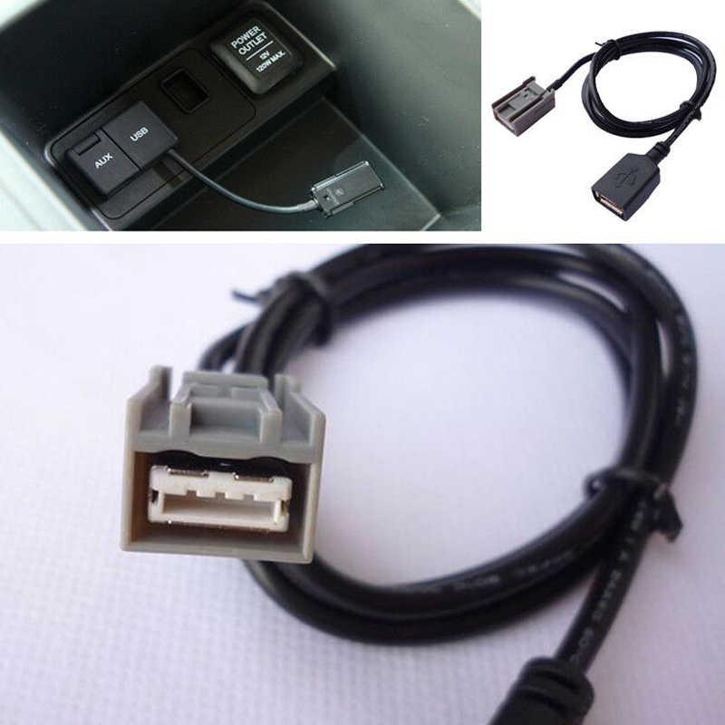 Auto Aux Cavo Adattatore USB Femmina Porta Cavo di Estensione per Honda Civic Jazz CR-V Accord Stereo MP3 Interfaccia Accessori Auto