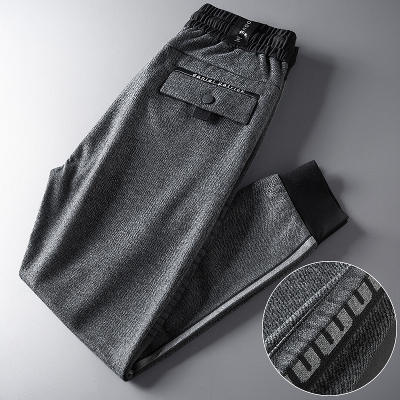 19 Winter New Style High-End Men's Trousers-Style Fashion Man Athletic Pants Loose-Fit Ankle Banded Pants Elasticity Large Size