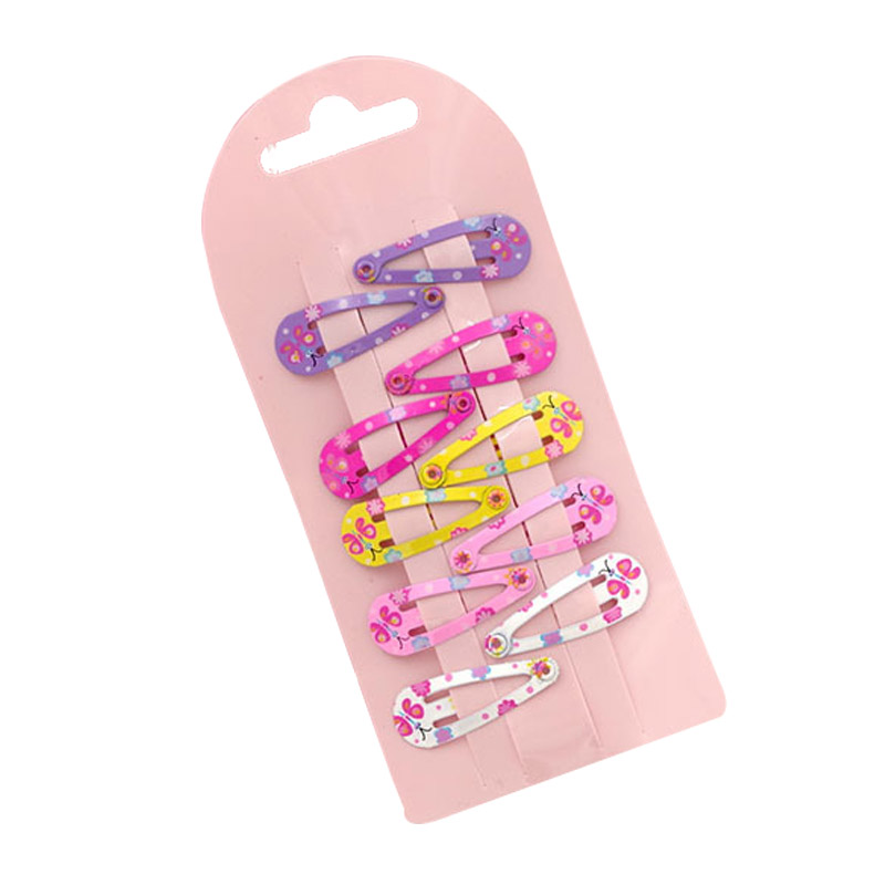 10Pcs Hairpins Snap Hair Clips For Children Girls Cartoon Hair Accessories Baby Cute Hair Clip Pins Floral Pattern Barrette