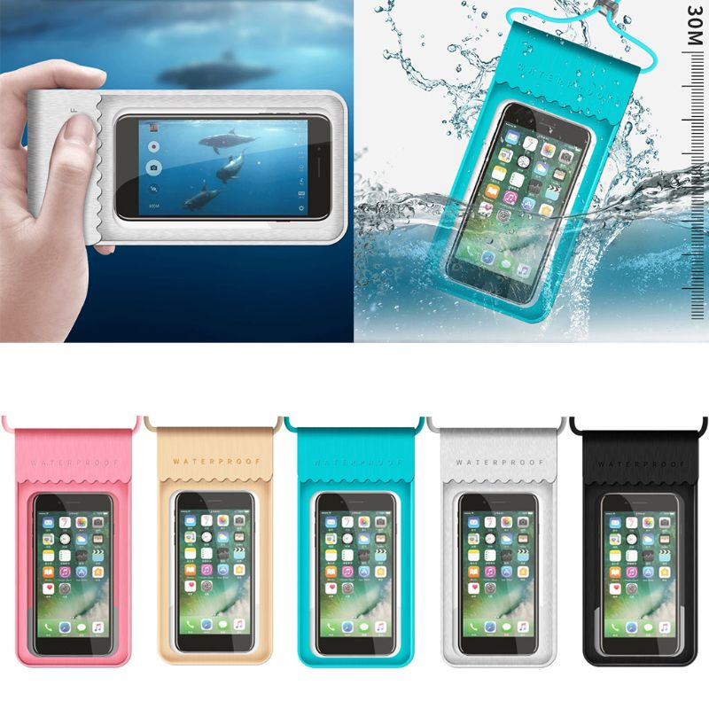 TPU Waterproof HD Mobile Phone Bag Touch Screen Swimming Bag Beach Swimming Pool Diving Snorkeling Mobile Case
