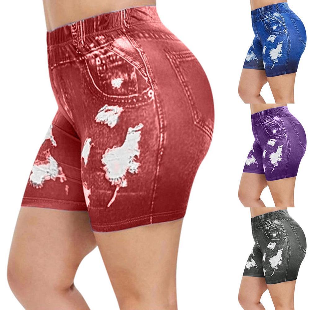 New Sexy Women Printed Leggings Fashion Pants High Waist Stretch Leggings Slim Pencil Street Trousers Sports Pants Trousers