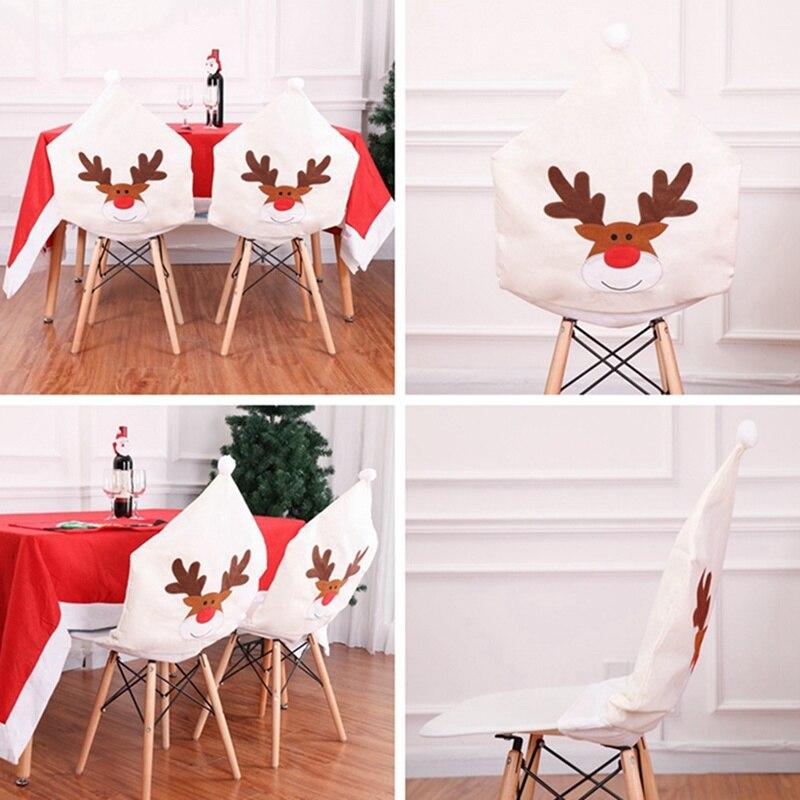 Рождественский Чехол для стула чехол с вышивкой лося «Рождество»